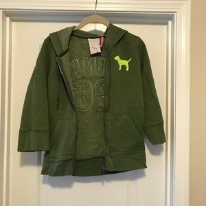 VS Pink green 3/4 sleeve jacket